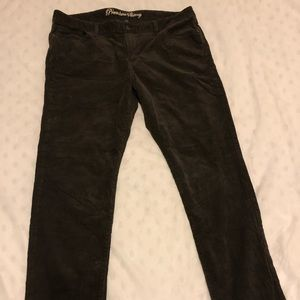 Gap brown corduroy pants size 16